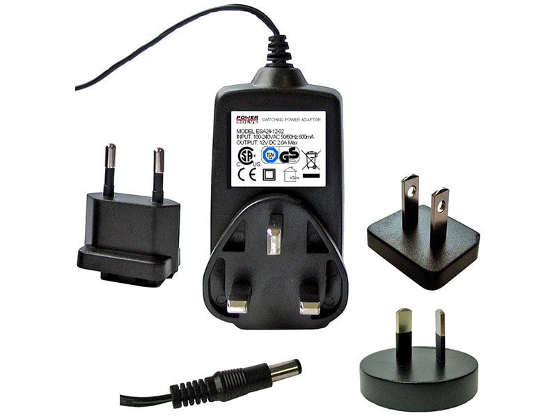 Plug top power adaptors